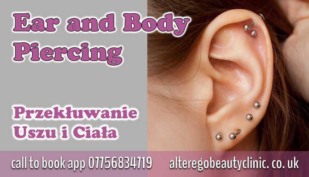 2 dziurki w uchu