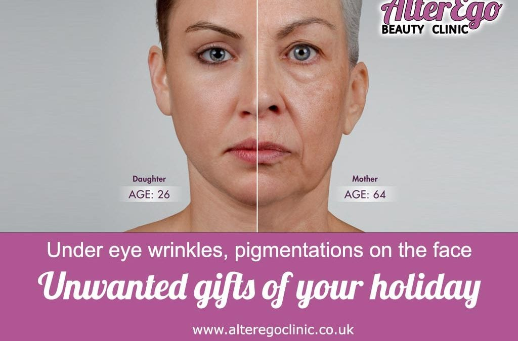 Under eye wrinkles, pigmentations on the face. Unwanted gifts of your holiday-part 1